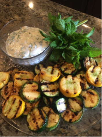 Whipped Feta and Grilled Squash